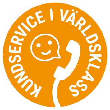 Emblem för kundservice i världsklass